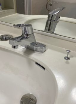 水栓金具の取替えで気分一新🎶
